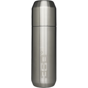 360° degrees Vacuum Insulated Stainless Flask with Pour Through Cap 750ml, silver